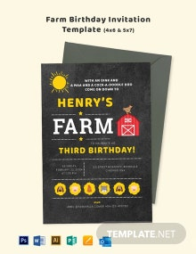 Farm Birthday Invitation Template