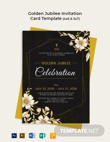 Golden Jubilee Invitation Card Template