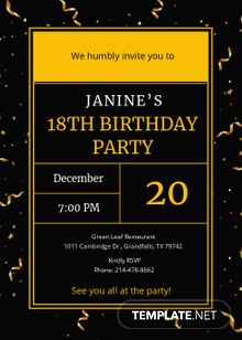 Golden Ticket Birthday Invitation Template