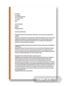 Recommendation Letter Format