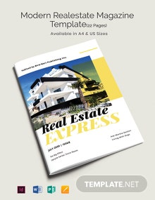 Free Modern Real Estate Magazine Template
