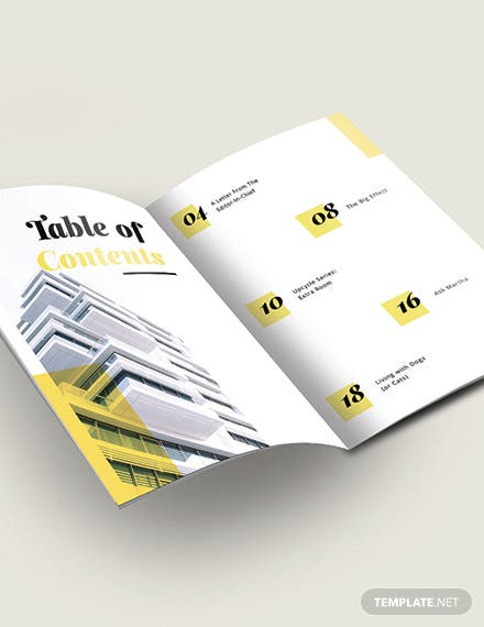 Modern Real Estate Magazine Template