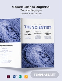 Free Modern Science Magazine Template
