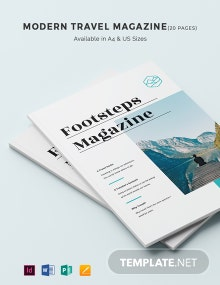 Free Modern Travel Magazine Template