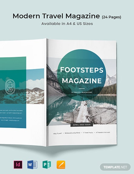 Free Elegant Travel Magazine Template