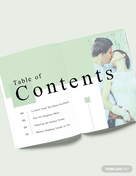 Modern Wedding magazine Template