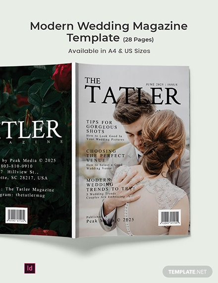 Free Modern Wedding magazine Template