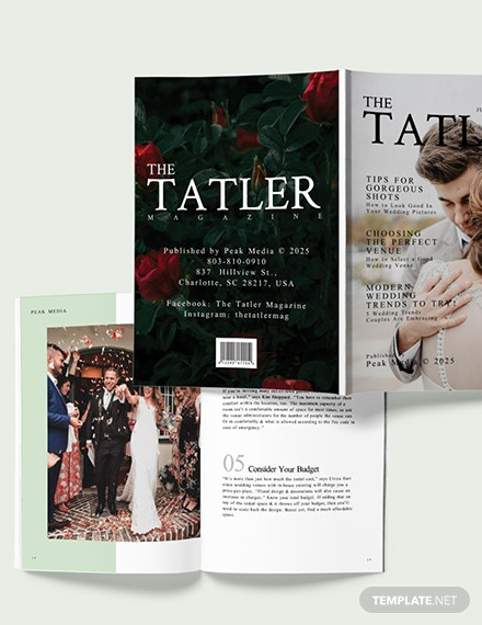Sample Modern Wedding magazine