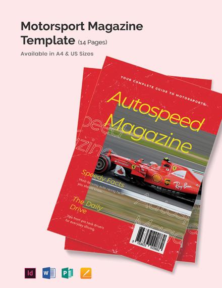 Motorsport Magazine Template