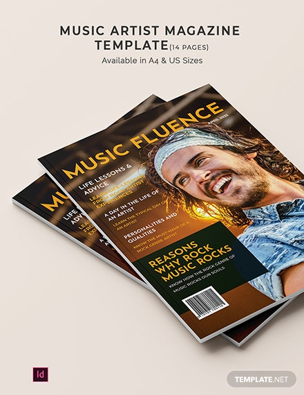 Music Artist Magazine Template