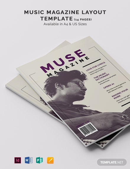 Music Magazine Layout Template