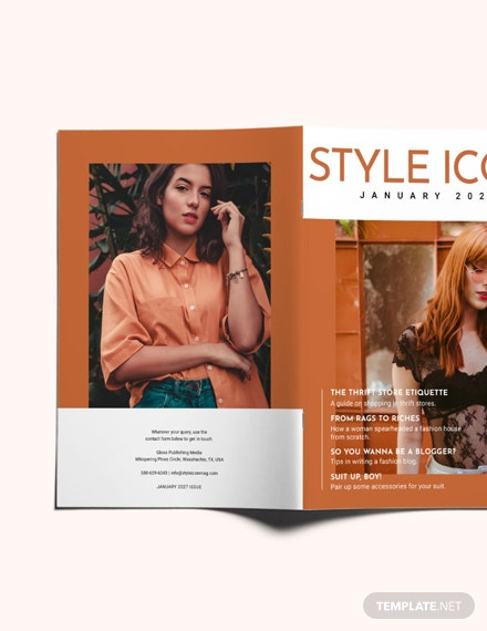 Stylish Fashion Magazine Template Indesign Microsoft Word Microsoft Publisher Apple Pages Template Net