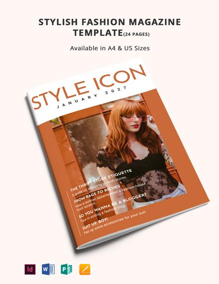 Stylish Fashion Magazine Template