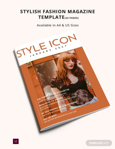 stylish fashion magazine