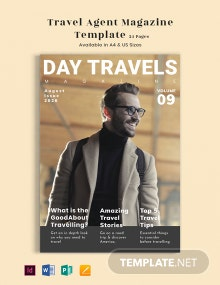 Travel Agent Magazine Template