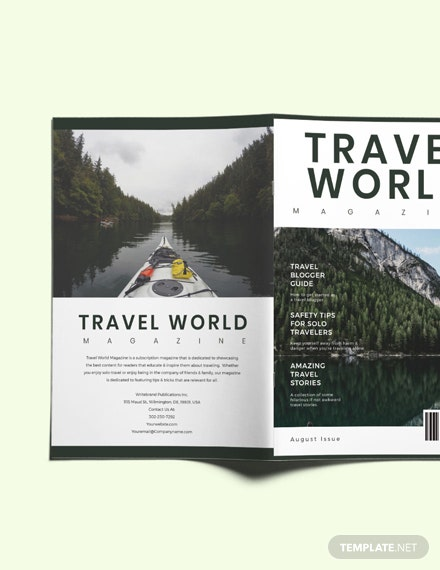 Travel Guide Magazine Template [Free Publisher] - InDesign, Word, Apple Pages