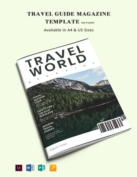 Travel Guide Magazine Template
