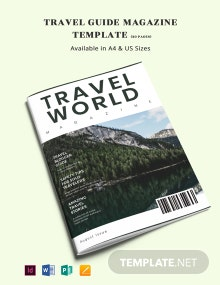 Travel Guide Magazine Template