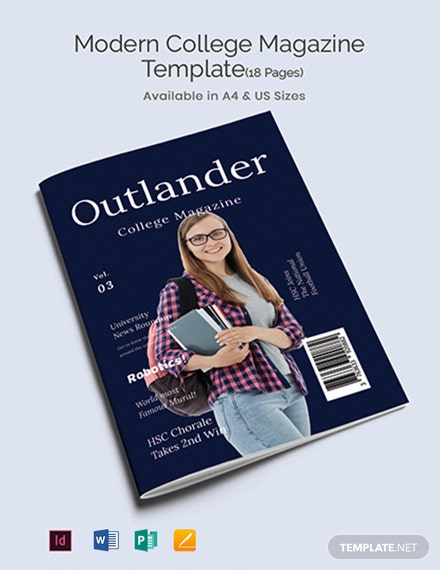 Free Modern College Magazine Template