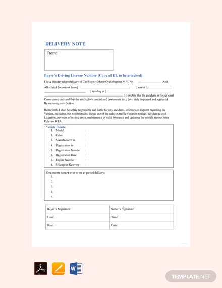 free sample vehicle delivery note template 440x570 1