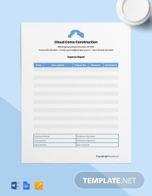 Free Blank Construction Expense Template