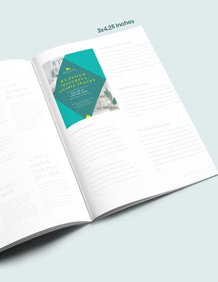 Interior Design Magazine Ads Format