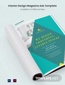 Free Interior Design Magazine Ads Template