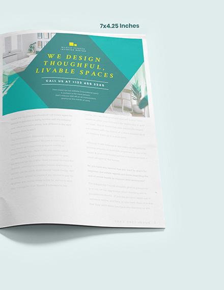 Sample Interior Design Magazine Ads