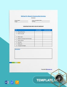 Free Basic Construction Checklist Template