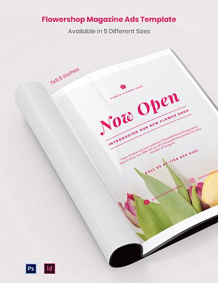 Free Flowershop Magazine Ads Template