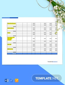 Blank Construction Worksheet Template