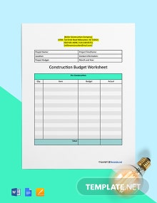 Printable Construction Worksheet Template