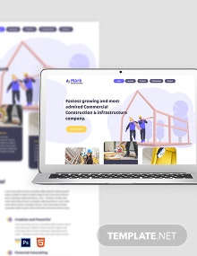 Free Building Company Website Template