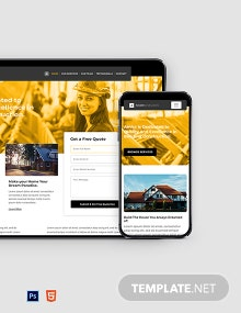 Free Building Construction Website Template