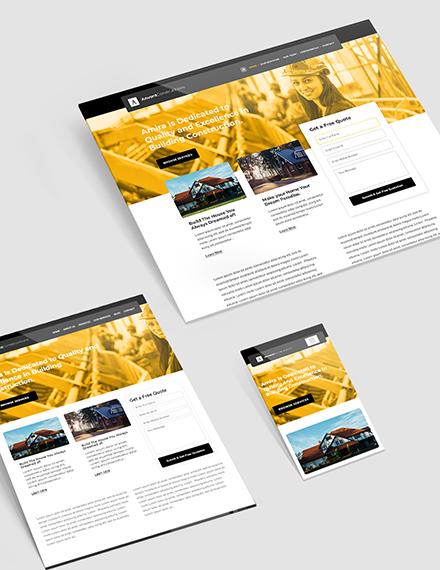 Building Construction Website Template  - HTML5, PSD