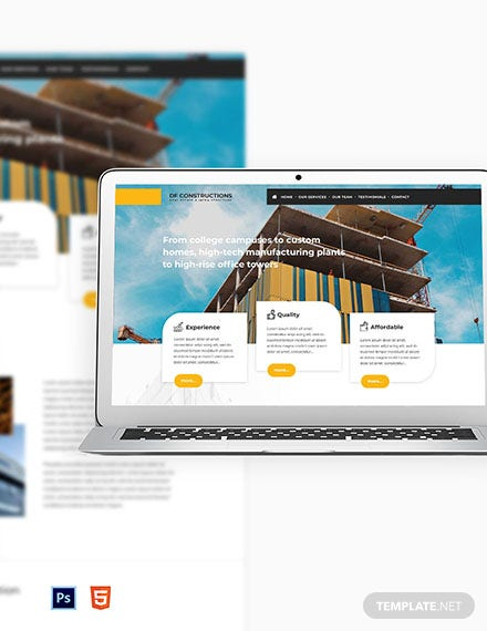 Construction Business Website