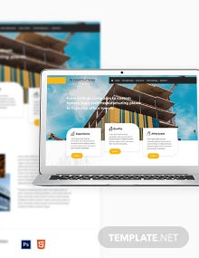 Free Construction Business Website Template