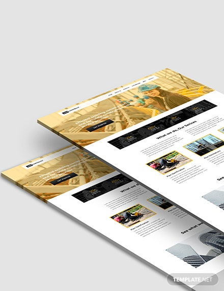One Page Construction Website Format