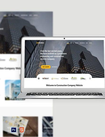 Simple Construction Website