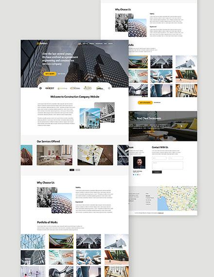 Simple Construction Website Format