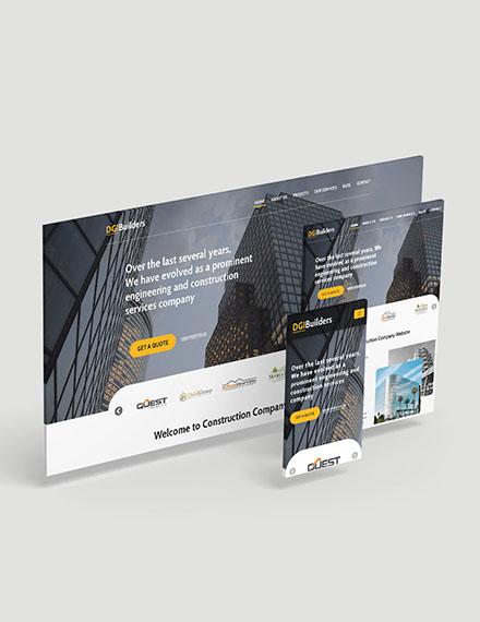 Simple Construction Website Template
