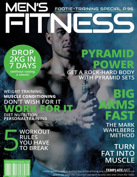 Free Men's Fitness Magazine Cover Template