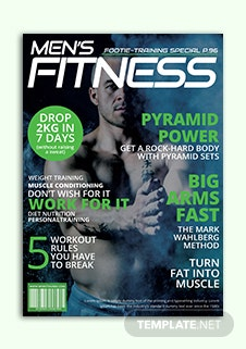 Men's Fitness Magazine Cover Template