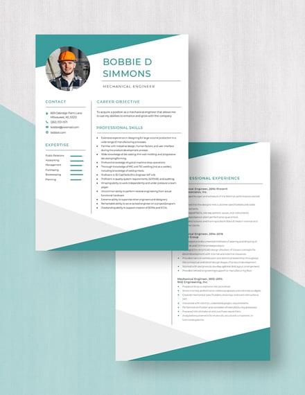 Mechanical Engineer Resume Download