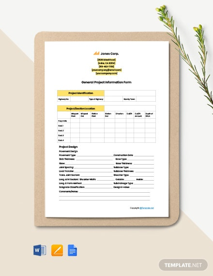 Free Printable Construction Form Template