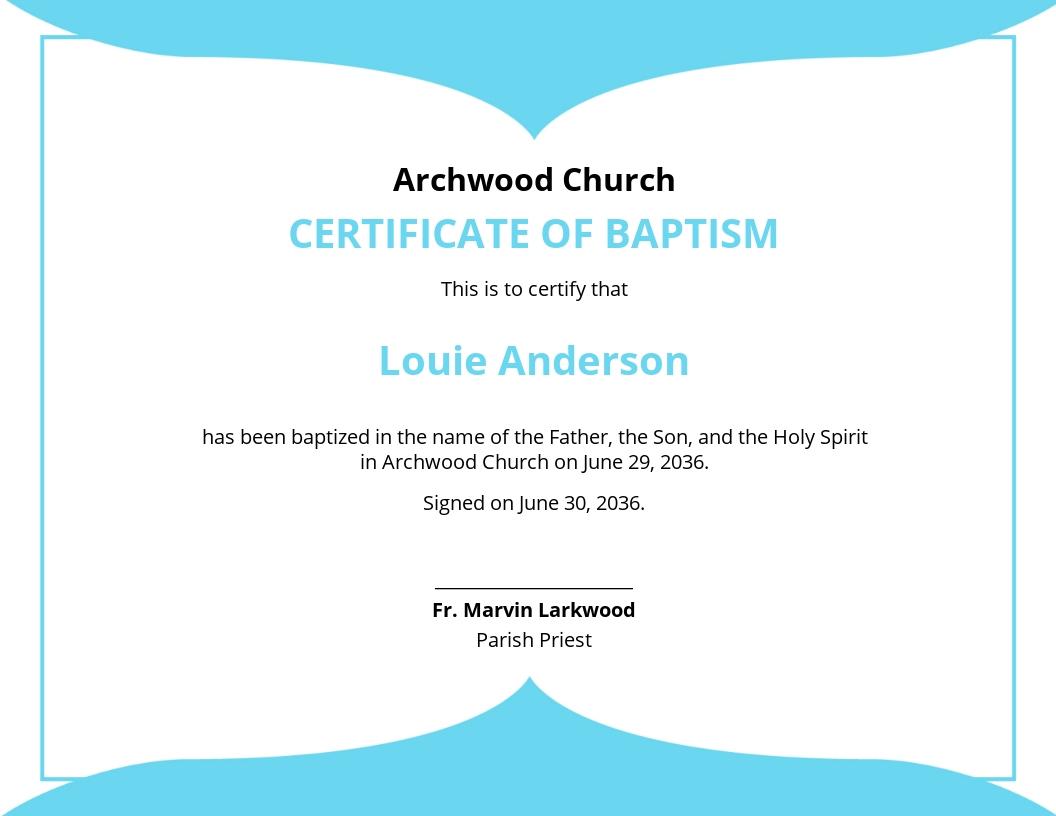 Church Baptismal Certificate Template.jpe