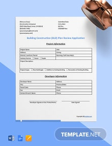 Free Simple Construction Form Template