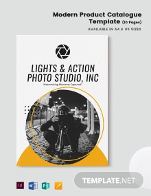 Free Modern Product Catalogue Template
