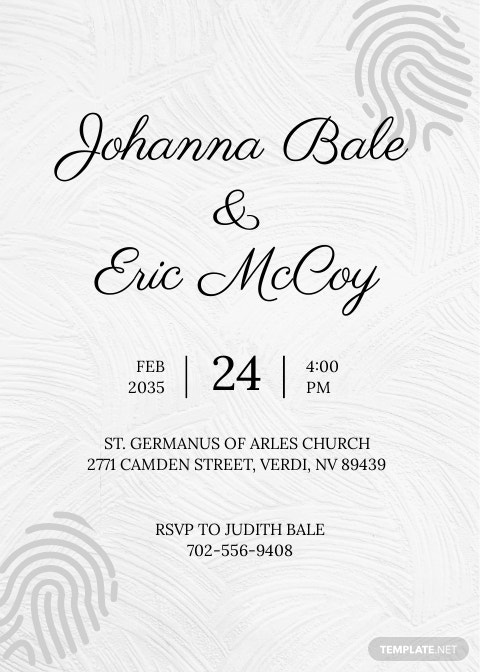 Fingerprint Wedding Invitation Suite Template