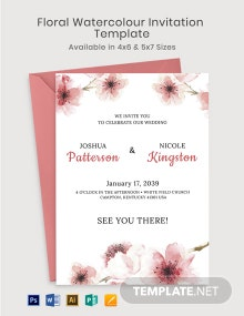 Floral Watercolour Invitation Template